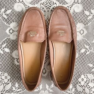 COACH | Opal Saddle Brown Leather Loafers Flats